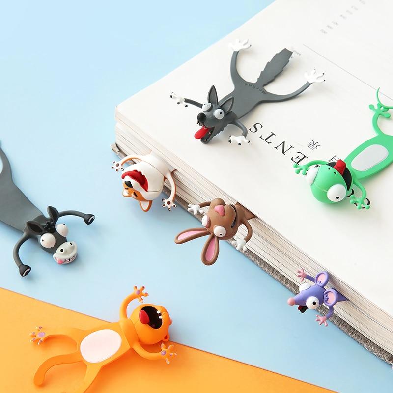 Творческий 3D стерео Закладка для книги и милые носки с рисунками зверей из мультфильмов, для маркер Kawaii Cat Закладка-панда страниц подарки дл...
