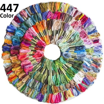 447 Mix Colors Anchor Similar DMCDMC Cross Stitch Cotton Embroidery Thread Floss Sewing Skeins Craft Hogard Kit DIY Sewing Tools