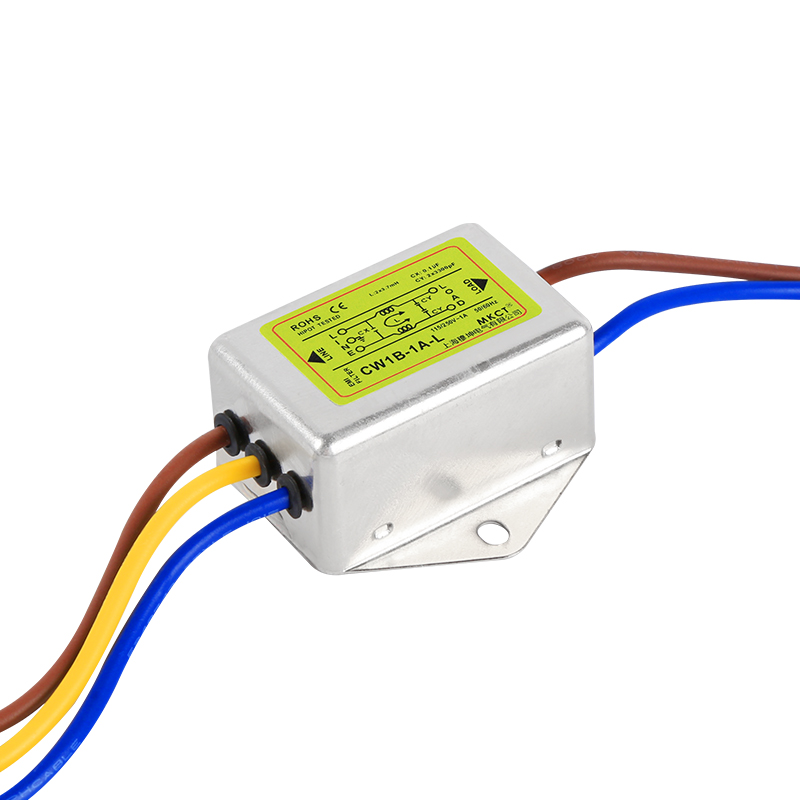 Anti-interference AC 220V Power Supply Filter EMI Line Audio Purifier CW1B-L 1A 3A6A10A