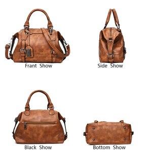 Image 3 - Women Bag Vintage Shoulder Bag Luxury Handbags PU Leather Crossbody Bags For Women 2019 Ladies Boston Casual Tote Bolsa Feminina