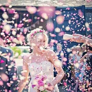 Image 2 - 1 ชุด PUSH POP สีชมพู Confetti Poppers สำหรับงานแต่งงานวันเกิดดอกไม้กระดาษรอบ Confetti DOTS PARTY ตกแต่ง