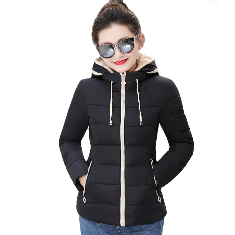 Hooded Outwear Womens Winter   Jackets   Slim Ladies Women Autumn   Basic     Jacket   Short Casaco Feminino Inverno 2019 New Arrival