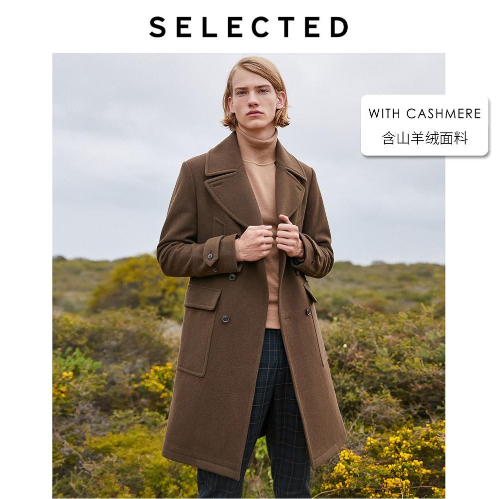 SELECTED Men's Woolen Overcoat Autumn & Winter Wool Coat Outwear S|419427547