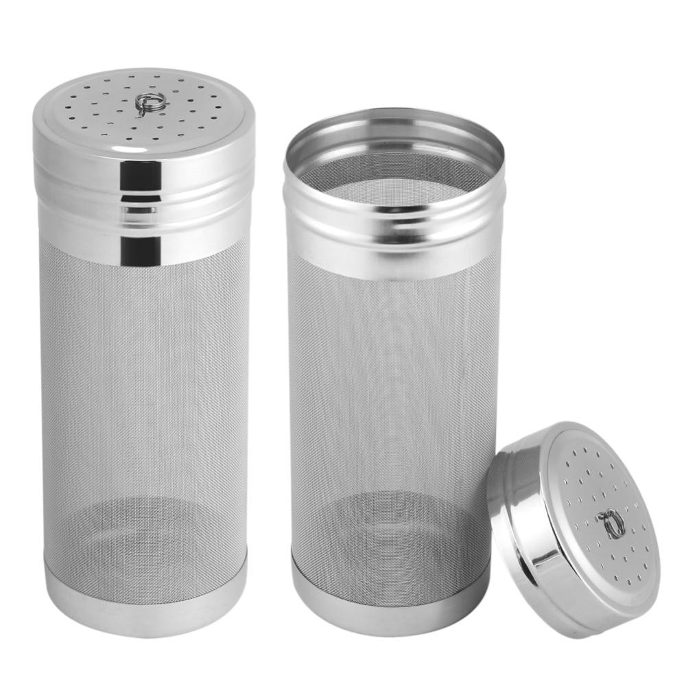 7x1 8/ 7x29cm 300 mikron paslanmaz çelik hizmet filtresi Homebrew örgü bira filtresi süzgeç kuru hazne ev için demlemek örümcek filtresi