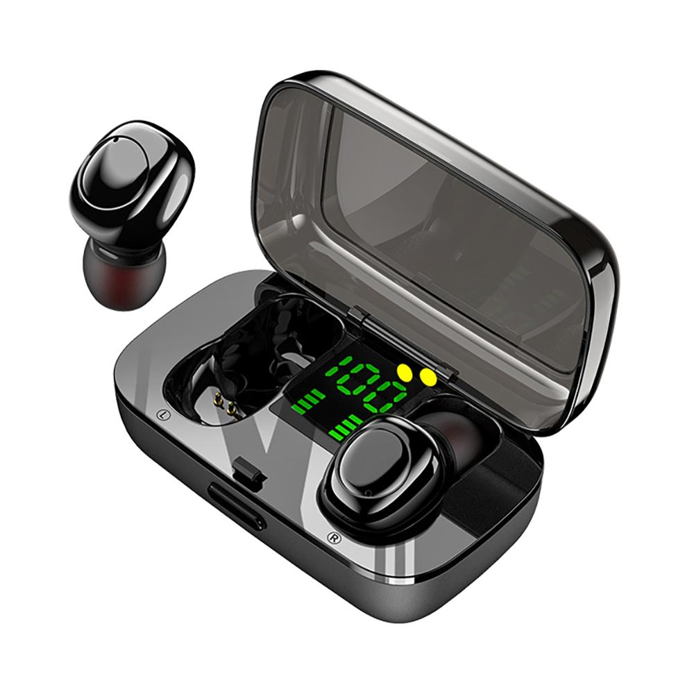 XG23 TWS Bluetooth 5.0 Headphones LED Digital Display Screen Touch In-ear Noise Cancelling Stereo Earphones With Charging Box