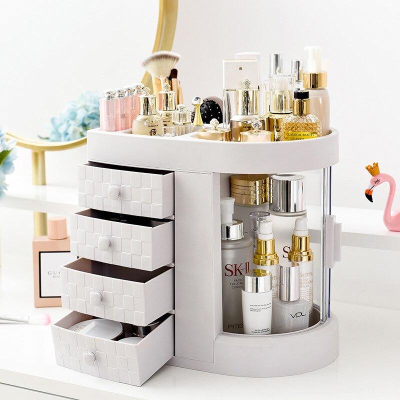 Grande capacidade organizador de maquiagem gaveta integrada cosméticos organizador skincare batom cosméticos caixa de armazenamento de maquiagem caixa de armazenamento