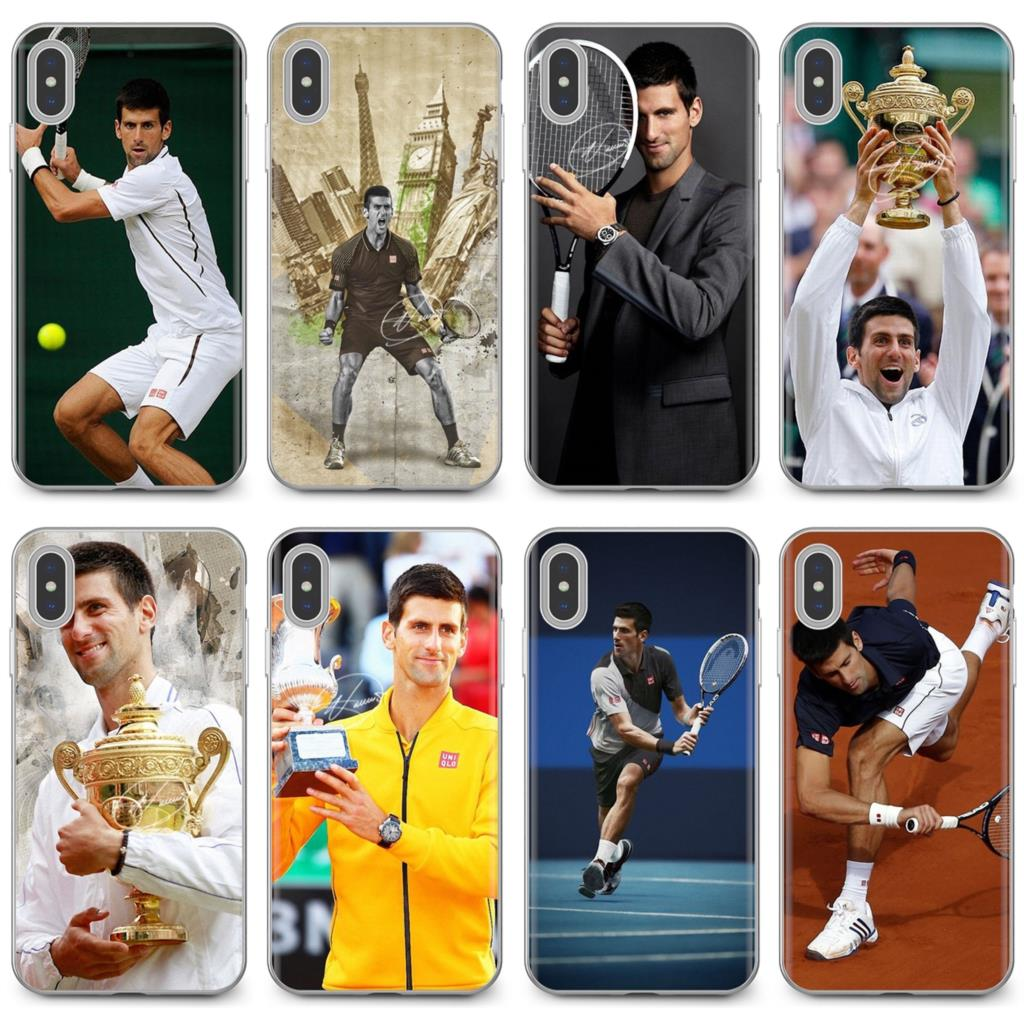 For iPhone 11 Pro 4 4S 5 5S SE 5C 6 6S 7 8 X 10 XR XS Plus Max For iPod Touch Silicone Case Housing Novak Djokovic Tennis player(China)