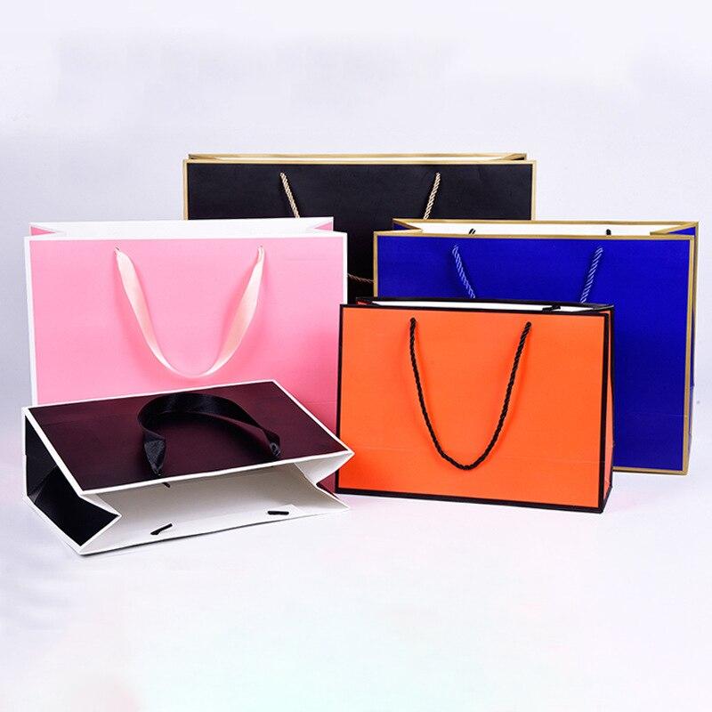 Bolsa de papel gruesa bolsa de ropa personalizada bolsa de regalo bolsa de compras con marco (la tarifa de impresión no está incluida)|Bolsas de almacenamiento| - AliExpress