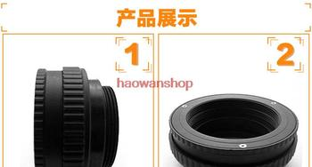 M52 to M42 Mount Focusing Helicoid Ring Adapter 12 - 17mm Macro Extension Tube