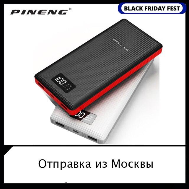 מקורי PINENG כוח בנק PN 969 920 999 20000mAh Dual USB חיצוני נייד סוללה מטען Li פולימר עבור טלפון כוח בנק