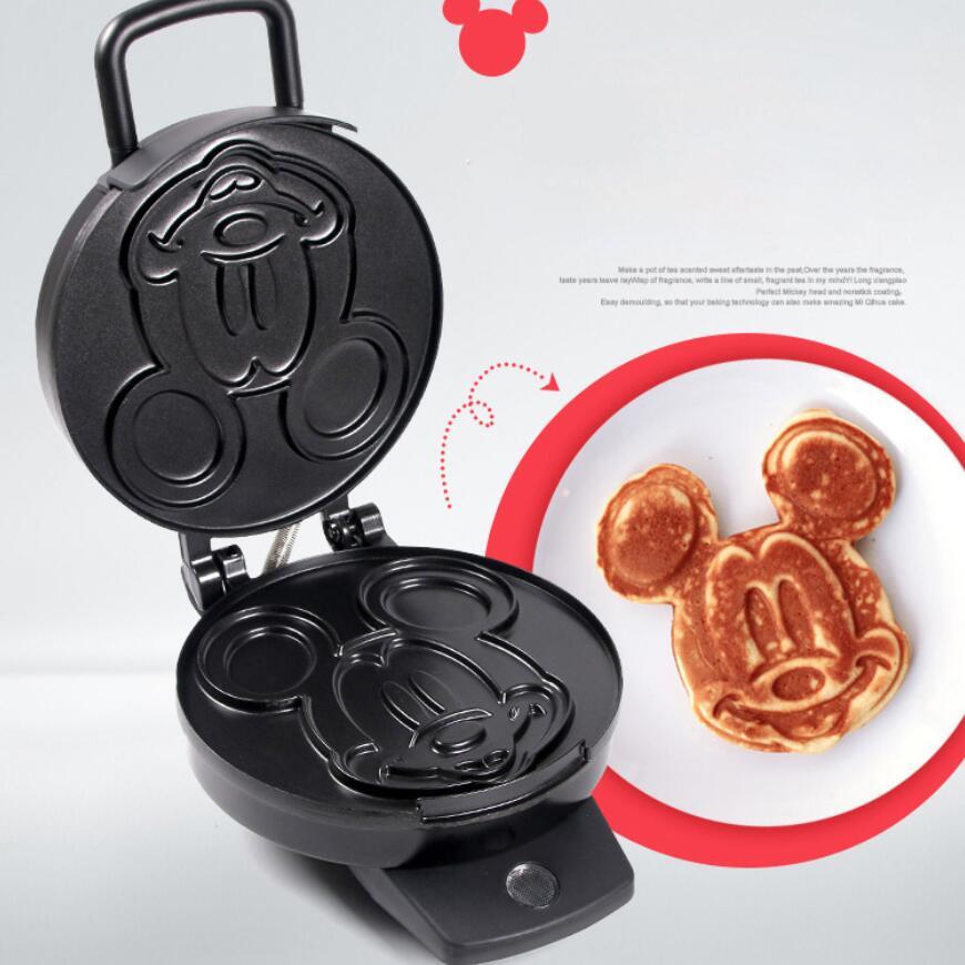 220V adorables formas de dibujos animados máquina eléctrica para hacer gofres pastel para el desayuno Placa de hierro para hornear máquina antiadherente para tortas - 5