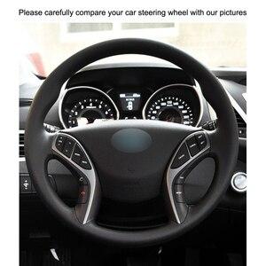 Image 3 - สีดำ PU หนัง Holster รถครอบคลุมพวงมาลัยสำหรับ Hyundai I30 2012 2017 Elantra GT 2013 2017 elantra Coupe