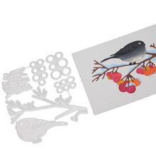 Bird Branch Metal Cutting Dies Stencil Template For DIY Scrapbooking Embossing Paper Card Album Making Decorative Craft Dies Cut palm tree metal cutting dies stencil diy card album making scrapbooking template embossing handicraft die cut 2019