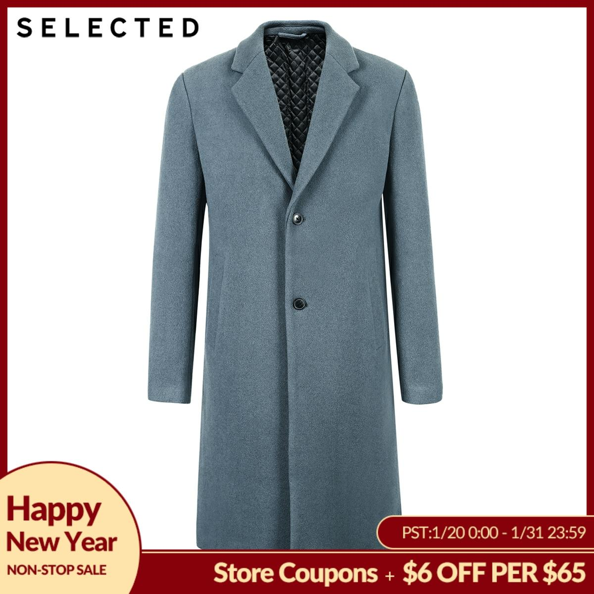 SELECTED Men's Winter Wool-blend Coat Cashmere Jacket Medium Style Woolen Clothes S | 418427551