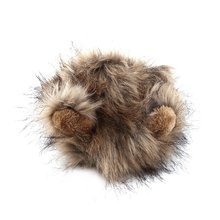 Забавный милый костюм для питомца Косплей льва грива парик шапка шляпа для кошки Хэллоуин Рождество одежда нарядное платье с ушками осень зима