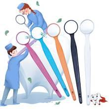8 шт. стоматологическое зеркало для гигиены полости рта, анти-туман, многоцветное зеркало для рта
