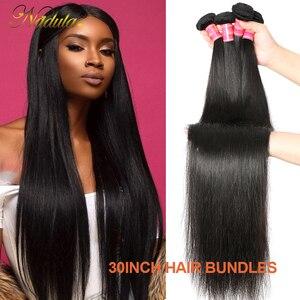 Image 2 - Nadula Hair mechones de cabello liso de 28 pulgadas y 30 pulgadas, 3 mechones/4 mechones, cabello humano liso Remy