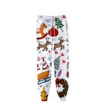 Jogger Pants Casual Fashion Men/women Slim 3d-Printed Christmas Hot-Sale Personality