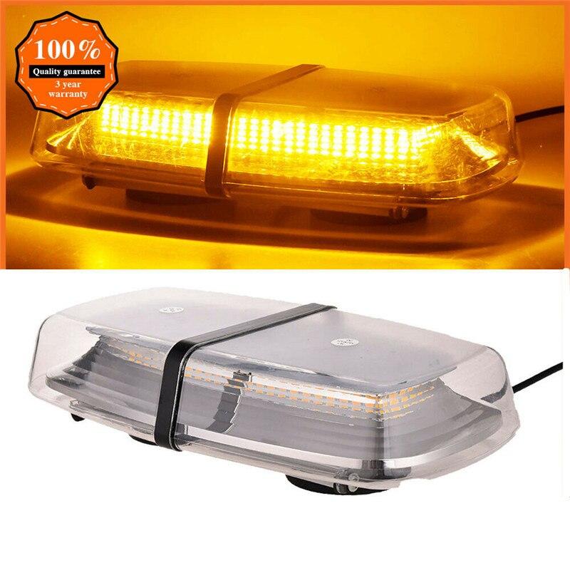Светодиодный стробоскосветильник на крышу автомобиля, 72 светодиодный Предупреждение стробоскоп на крышу, полицесветильник Янтарный строб...