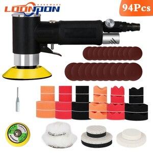 Image 2 - Nova lixadeira de ar mini máquina de moagem pneumática conjunto 2 polegada 3 polegada polidor polimento almofada kit para carro