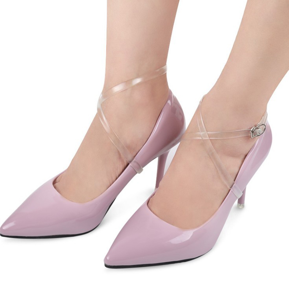 2Pcs/Pair Shoes Transparent Invisible Strings Women High Heels Band Ankle Straps High Quality Wholesale