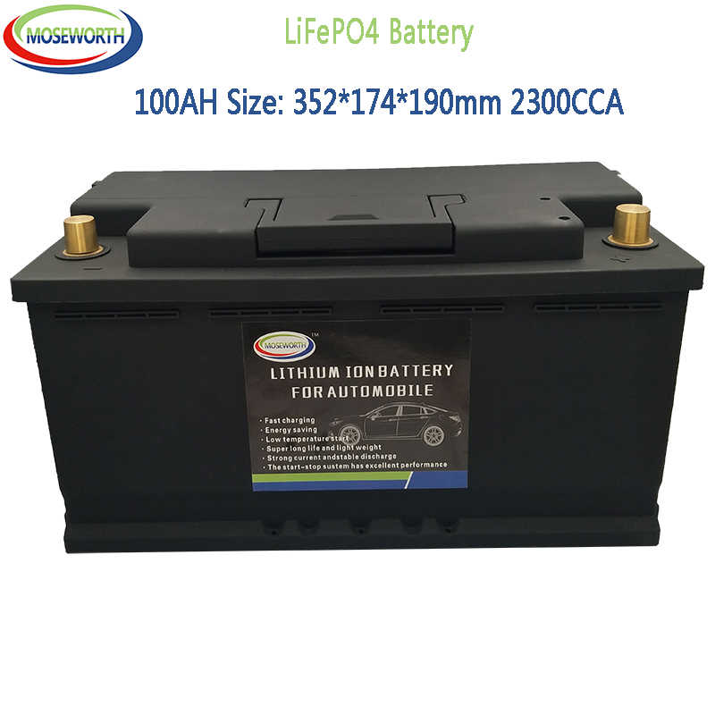 Lithium Ion Car Battery >> 12 8v 100ah Lifepo4 Lfp Lithium Iron Phosphate Battery Pack With Bms Board 2300a Cca For Car Battery Long Life Deep Cycles