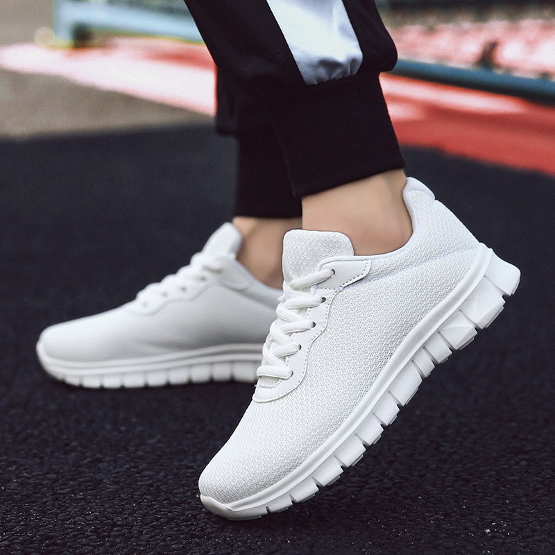New Brand Summer  White  Men'S Sneaker Low-Cut Casual Flyweather Women Fashion Unisex Couples Shoes Lightweight Men Casual Shoes