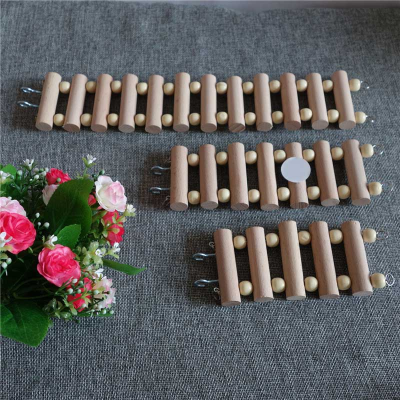 Bird Cage Accessories Hamsters Products Pet Supplies Parrot Toy 1Pcs Wooden Ladder Rocking Scratcher Perch Round Log