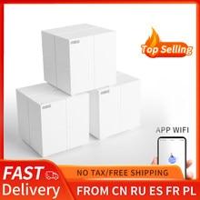 Tenda mw6 nova toda casa malha sistema wi-fi sem fio com 11ac 2.4g/5.0ghz wifi roteador sem fio e repetidor, app controle remoto