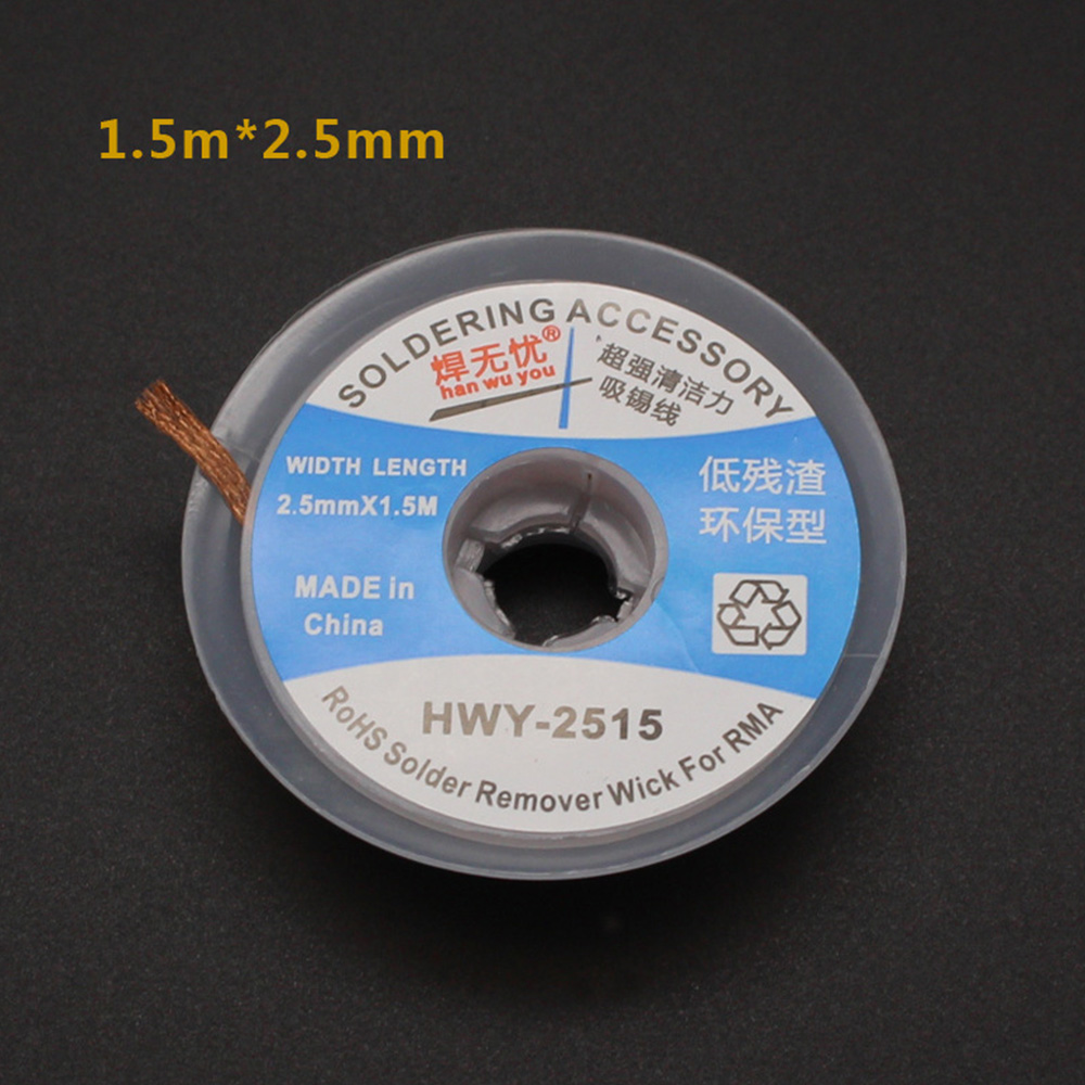 Desolder Braid Solder Remover Wick Low Residue Non-Clean Tin Household Requireme