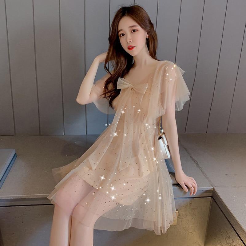 Very Fairy Of France Non-mainstream Dress Women's 2019 Popular Summer Skirt Summer New Style Korean-style Elegant Two-Piece Set