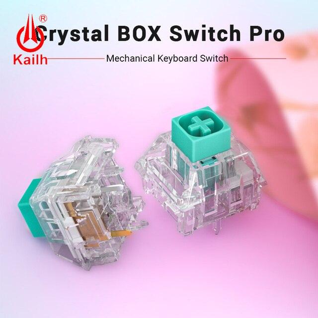 10 قطعة kailh كريستال صندوق التبديل برو لوحة المفاتيح الميكانيكية لتقوم بها بنفسك RGB/SMD اللمس التبديل الغبار مقاوم للماء متوافق الكرز MX