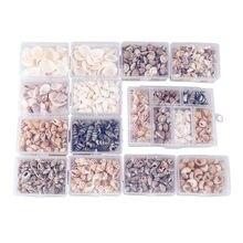 Estilo mix concha natural 1-3cm 1 caixa conch conchas naturais mini conch milho parafuso decoração da parede diy aquário paisagem conchas