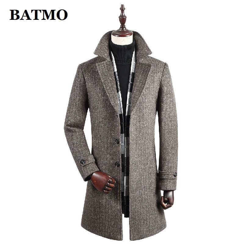BATMO New Arrival Winter High Quality Wool Trench Coat Men,men's Wool Casual Jackets,plus-size M-4XL MY812