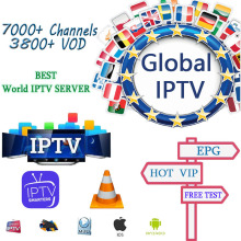 World IPTV Subscription 7000+  spanish arabic europe french German polish albania uk sports iptv M3U MAG free test 1/3/6/