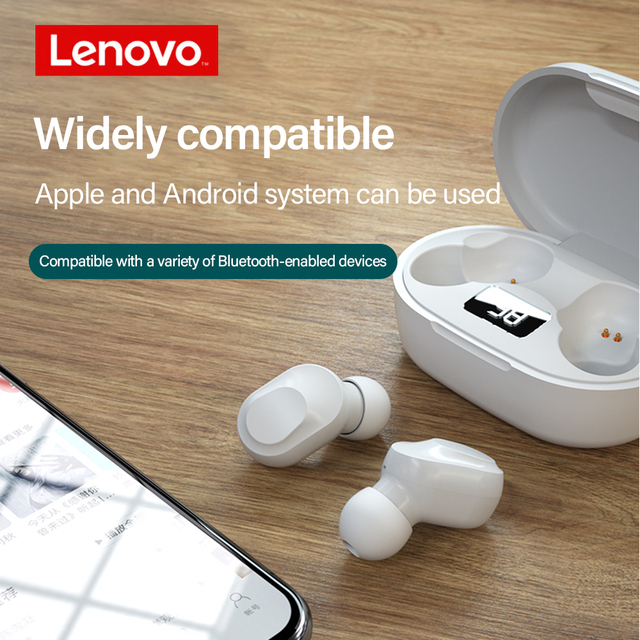 Original Lenovo QT81 TWS Earphone Wireless Bluetooth Headphones AI Control Gaming Headset Stereo bass With Mic Noise Reduction