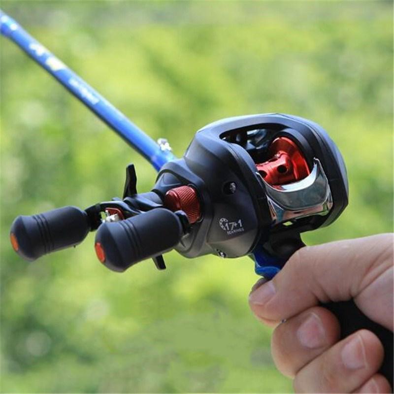 HobbyLane 17+1BB Metal Baitcast Fishing Reel Right / Left Hand 7.1 Long Shot Lure Fishing Reel