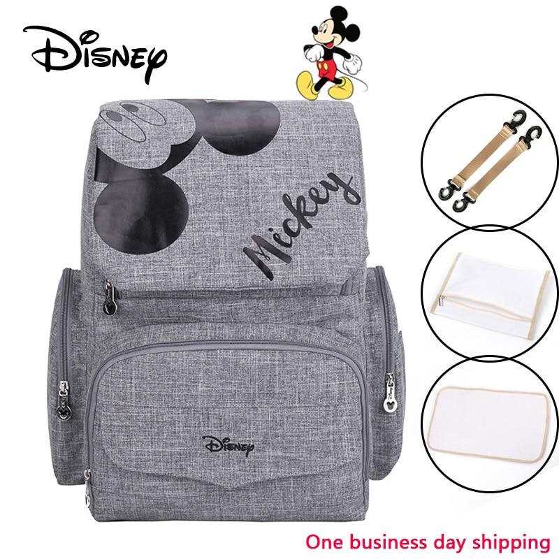 Disney Mickey Minnie Baby Diaper Mom Mummy Bags Maternal Stroller Bag Nappy Backpack Maternity Organizer Big Capacity 2019 New