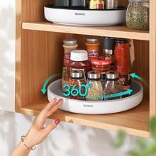 360° Rotating Storage Rack Multifunctional Seasoning Organizer Shelf Oilproof Non-slip Kitchen supplies Holder For Home