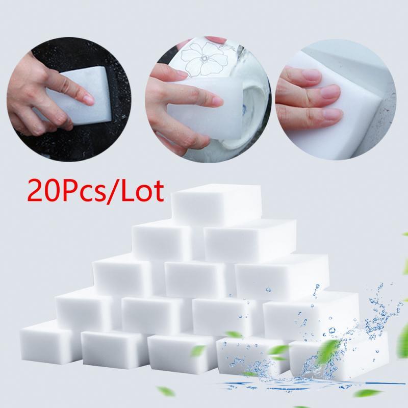 20Pcs/Lot Cleaning Sponges Melamine Foam Magic Sponge Eraser Multi functional Furniture Cleaning Cleaner For Kitchen Bathroom