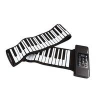 Quality Electric Roll Piano Portable Folding 88 Key Flexible Soft Silicone Electronic Music Keyboard Piano Usb Speaker Us Plug