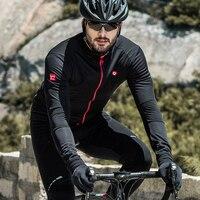 サンティックサイクリングジャージ男性サーマルフリース長袖サイクリングジャケット屋外防風フルジッパー M-5XL WSM144F0702B