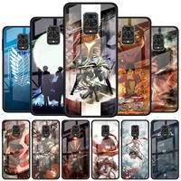 Gehärtetem Glas Telefon Fall für Xiaomi Redmi Hinweis 9S 8T 9T 7 8 9 Pro 8A 9A 9C K20 K30 Pro Abdeckung Shell Angriff Auf Titan 4