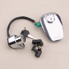 New Ignition Fuel Gas Tank Cap Switch Lock With 2 Key Set Fit For Suzuki VS1400 Intruder 1400 VS800 Boulevard S50 37110-38B03