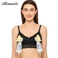 Momanda女性のwirefreeレース看護マタニティハンズフリーポンピングブラジャー