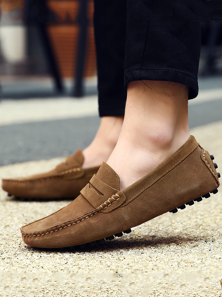 DEKABR Driving Shoes Moccasins Flats Men Loafers Spring Large-Size Genuine-Leather High-Quality