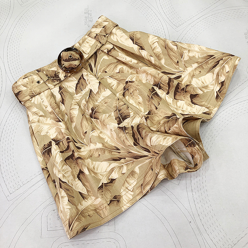 Подиумные модные повседневные шорты 2020 Весна Лето Новое поступление высокое качество дизайнерские модные брендовые льняные шорты с принто