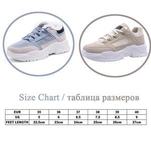 Image 5 - נשים נעלי קטיפה שלג מגפי פו זמש נעליים מזדמנים נעל חורף או סתיו שרוכים נשי נעלי WJ002