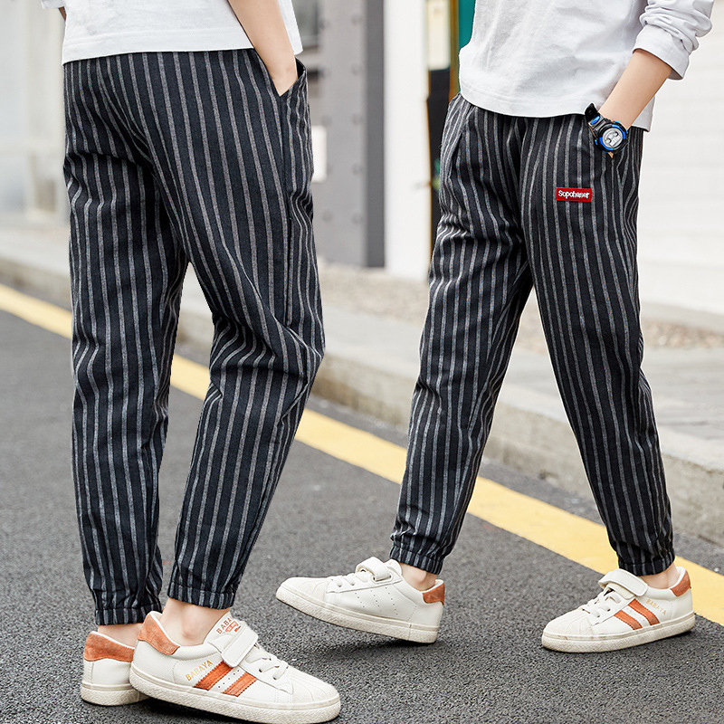 Childrens Casual Stripe Trouser-Pants