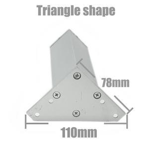 Image 3 - 4 ピース/セット 6 40 センチメートルアルミ金属家具脚キャビネット足テーブル用のネジで調整可能なトライアングルベーステーブルソファベッドキャビネット